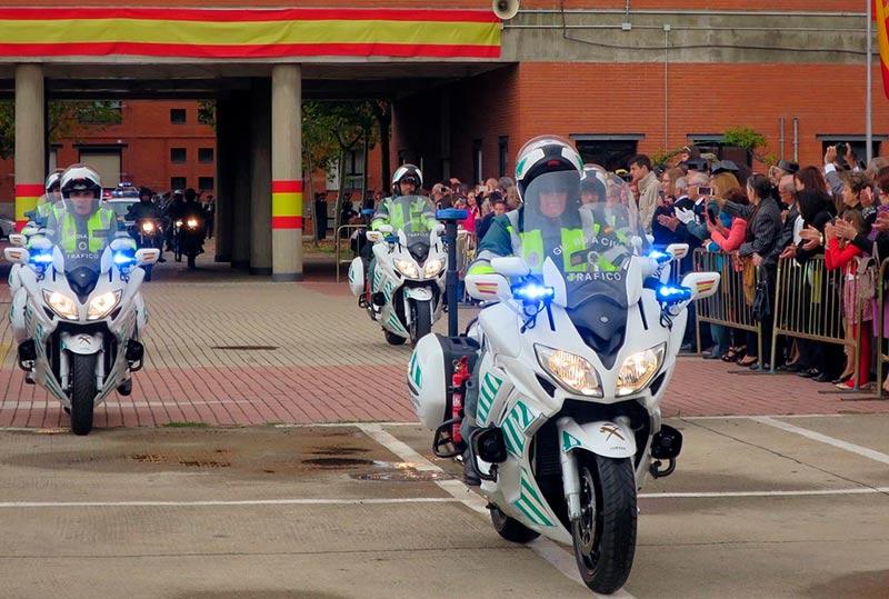 Agentes de la agrupación de Tráfico de la Guardia Civil de Salamanca.