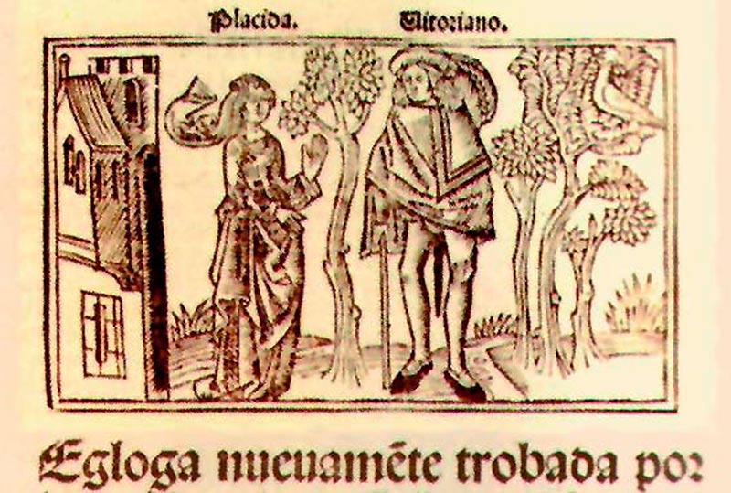 Detalle de la portada de una obra de Juan del Enzina.