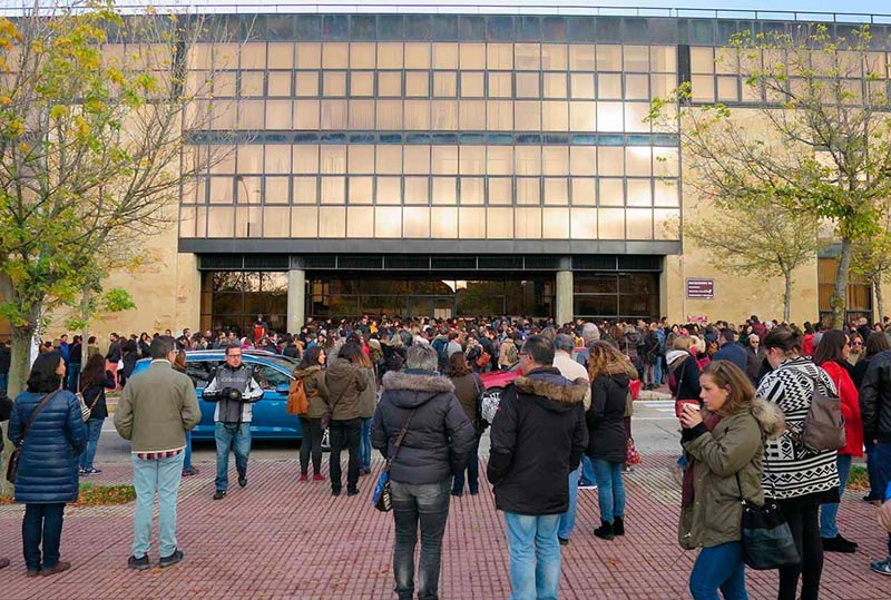 Oposiciones a enfermería en el campus Unamuno. FOTO: ARCHIVO.