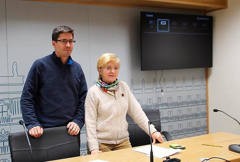 Pilar Moreno y Gabriel de la Mora, este miércoles.