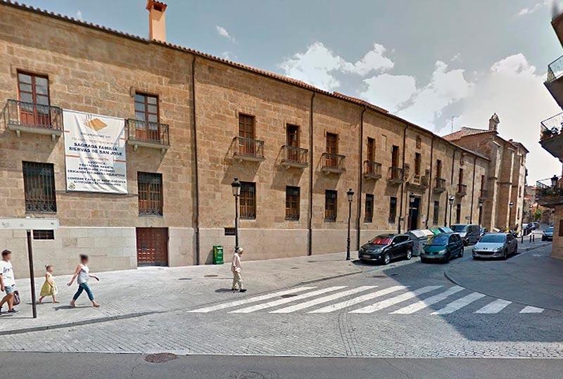 El colegio, en la calle Marquesa de Almarza.