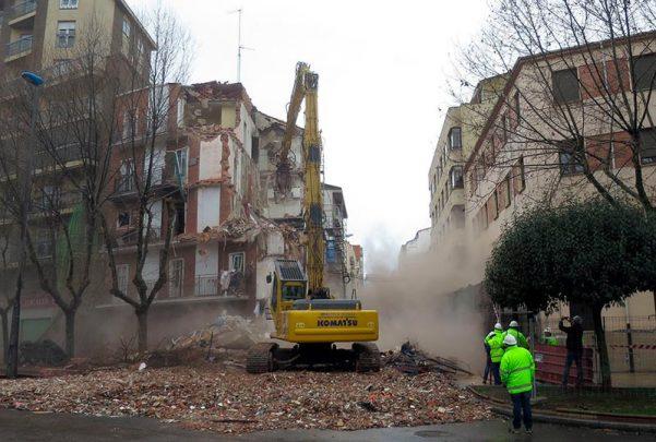 demolicion edificio palza barrio vidal explosion gas 3