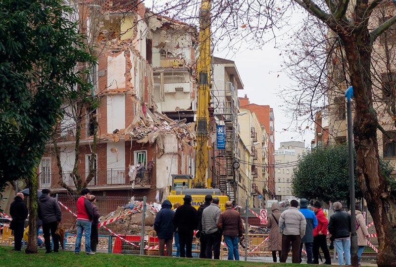 demolicion edificio palza barrio vidal explosion gas