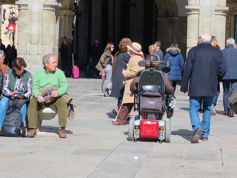Una persona con discapacidad.
