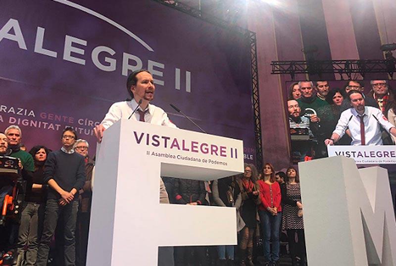 Pablo Iglesias en Vistalegre II.