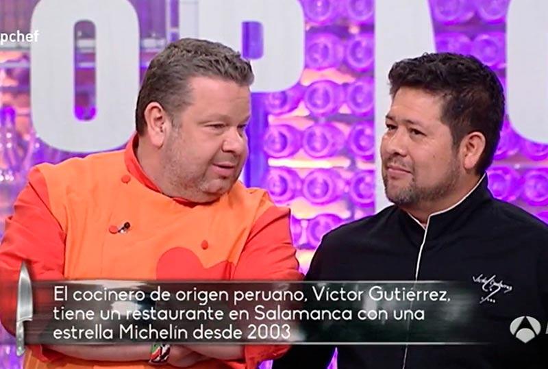 Chicote habla con Víctor Gutiérrez.