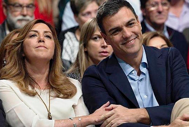 Pedro Sánchez y Susana Díaz.