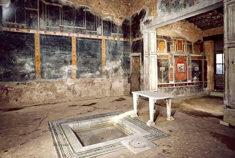 Una casa descubierta en Pompeya.