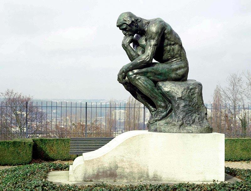 El Pensador, de Augusto Rodin.