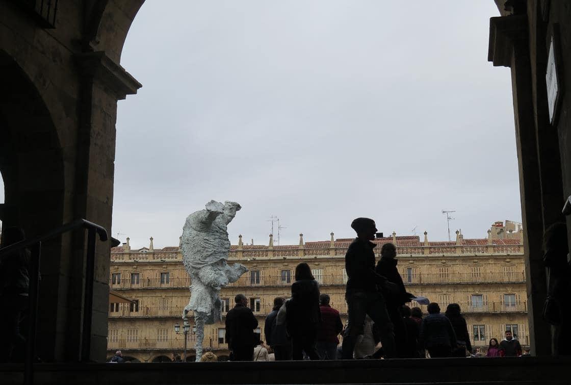 El Elefante de Barceló, en la Plaza Mayor.