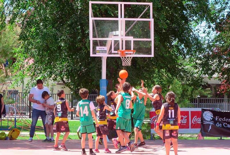 Uno de los partidos disputados en el parque de los Jesuitas.