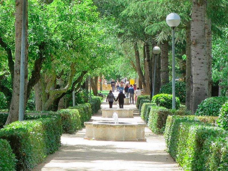 Un punto del parque de los Jesuitas.