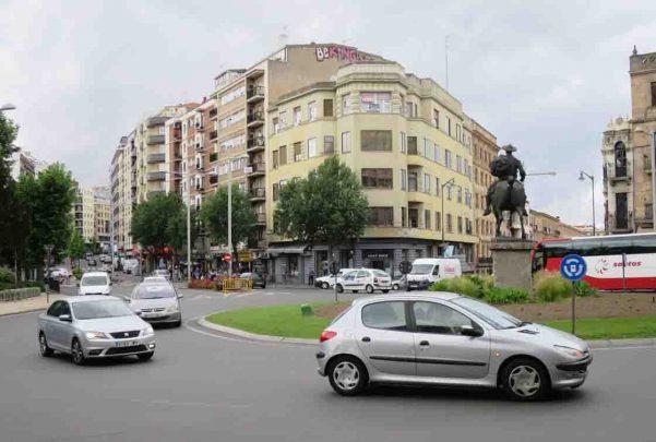 plaza españa trafico