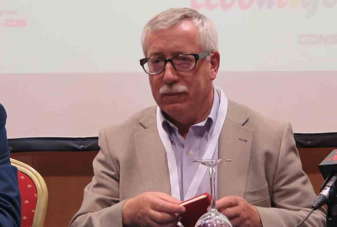 Ignacio Fernández Toxo, este miércoles en Salamanca.