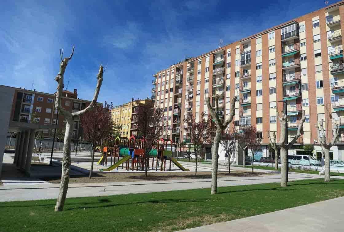 El parque de Garrido a finales de marzo.