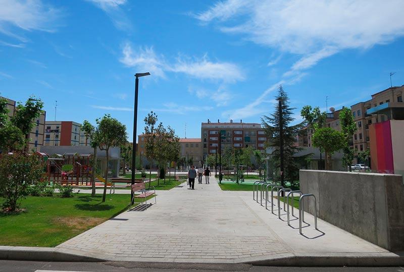 parque garrido nuevo 7 acera rebaada bordillo accesible