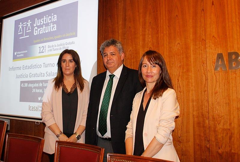 Raquel Martín, Eduardo Íscar y Alicia Vaquero.
