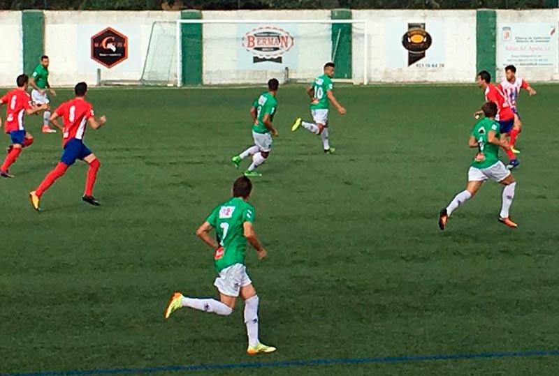 El Guijuelo, en el primer partido en casa de la temporada.