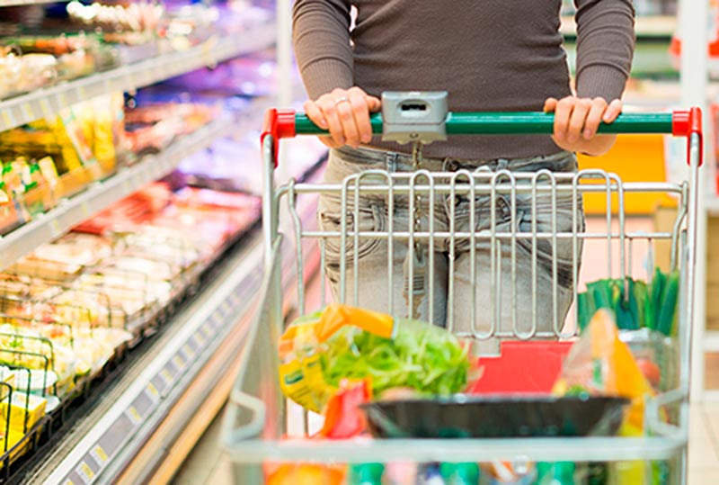 cesta compra supermercado consumo