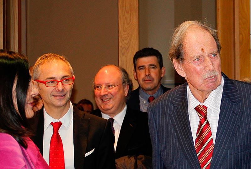 Hans Rudolf Gerstenmaier, junto al rector, Ricardo Rivero.