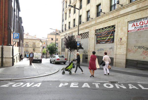 zona peatonal trafico