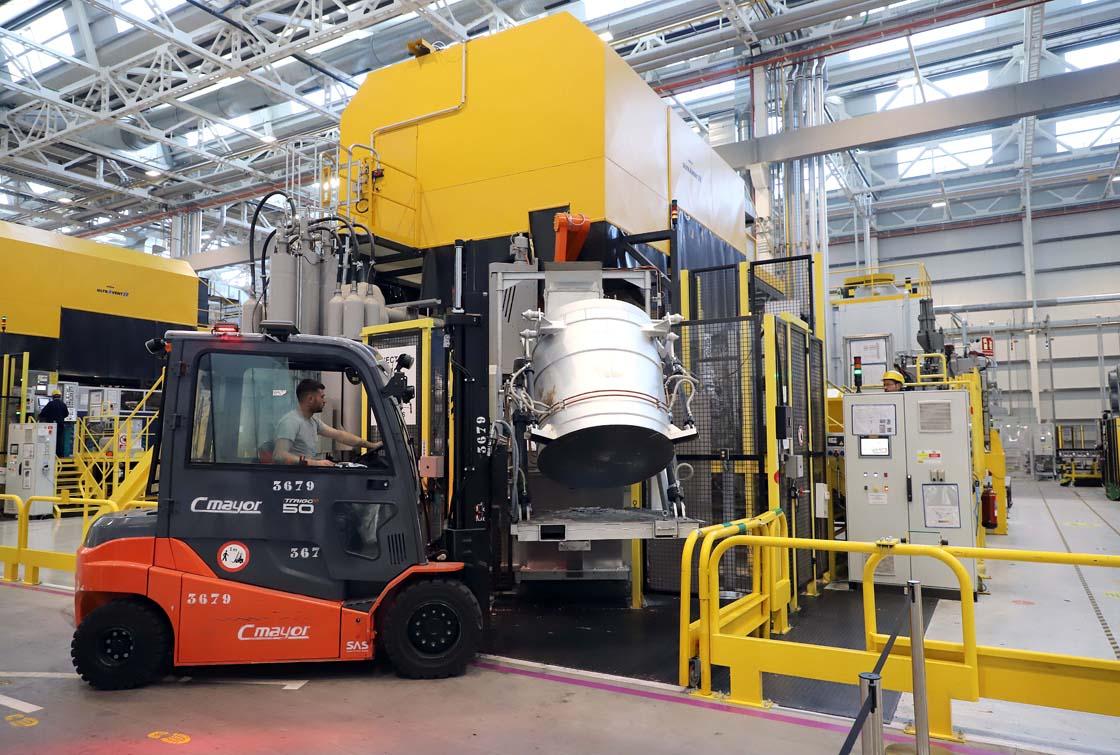 industria trabajo ICALInstalaciones de inyección de aluminio de Renault en Valladolid