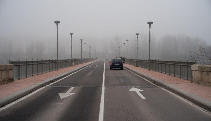Niebla en las carreteras de seis provincias de Castilla y León.