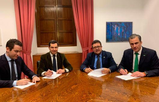 pp y vox firman acuerdo gobierno andalucia