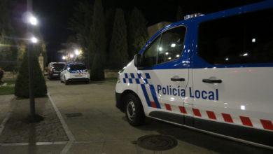 Coches de policía local y nacional en el mirador de Ciencias.