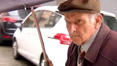 El anciano 'rayacoches' que ha sido ingresado en un geriátrico.