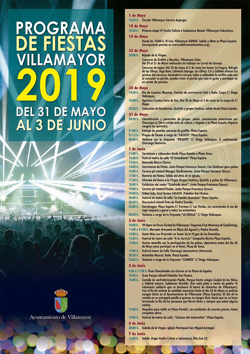 Villamayor Fiestas 2019 Cartel, Salamanca