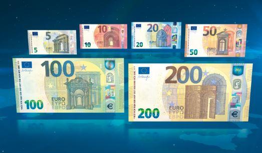 billetes 100 y 200 euros
