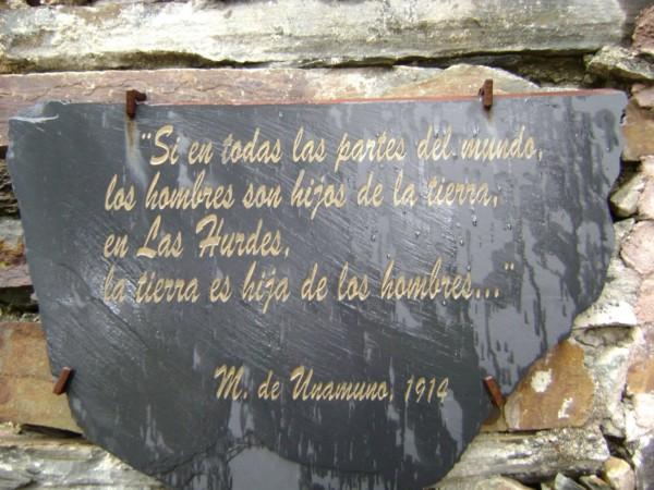 Miguel de Unamuno, Las Hurdes.