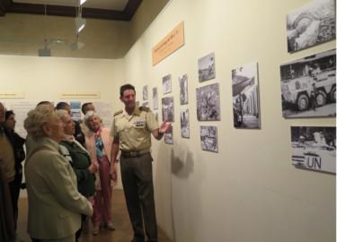 Fotografías de militares en el Casino de Salamanca