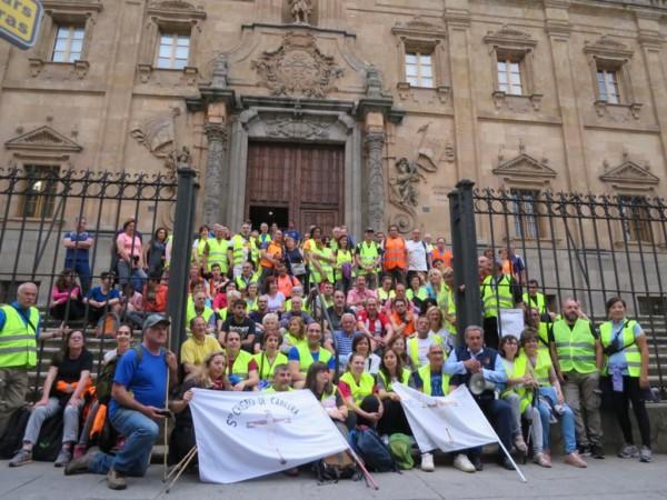 Peregrinos del Cristo de Cabrera, Salamanca.