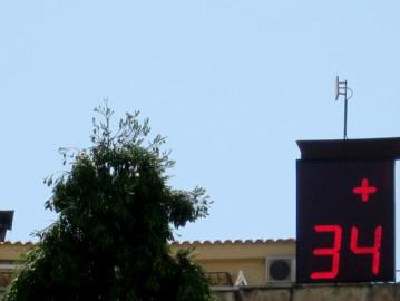 Termometro, ola de calor, calor, altas temperaturas.