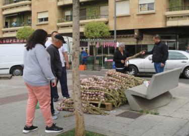 ajos, ajeros en San Juan, Mercado de San Juan Salamanca
