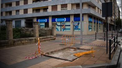 obras, vallas, paseo de la Estacion, Salamanca
