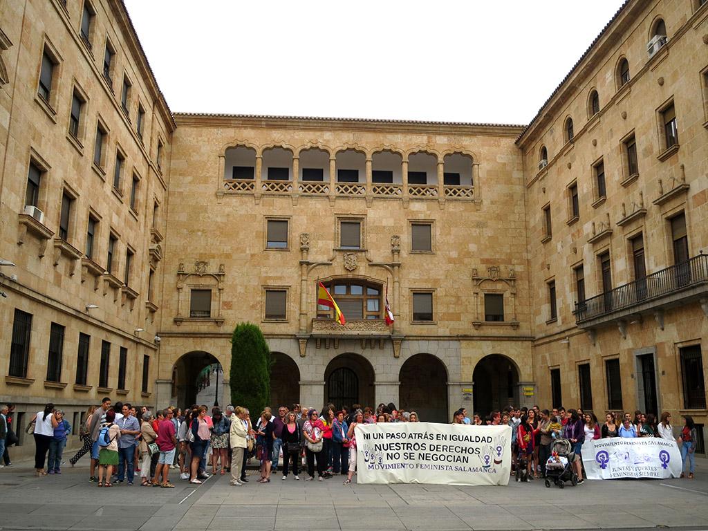 Concentración violencia machista, Manada, concentración violencia de género. Salamanca