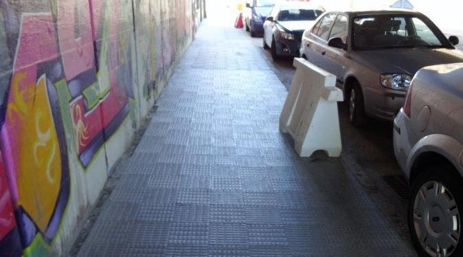 calle mallorca aceras