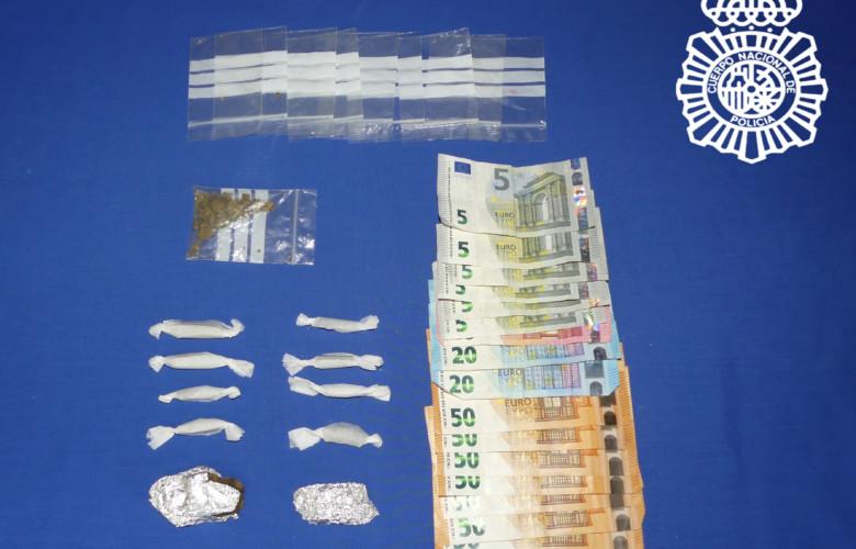 droga y dinero incautados