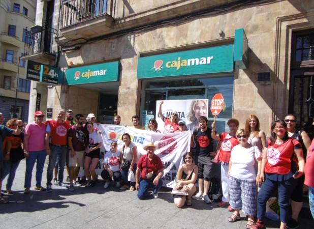 stop desahucios cajamar plaza españa