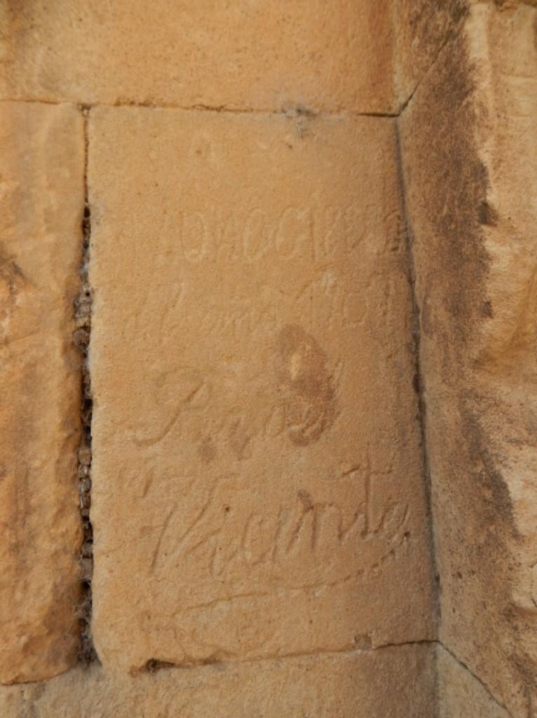 Misma caligrafía, era otra época, en las Agustinas. Foto. Pesquisidores