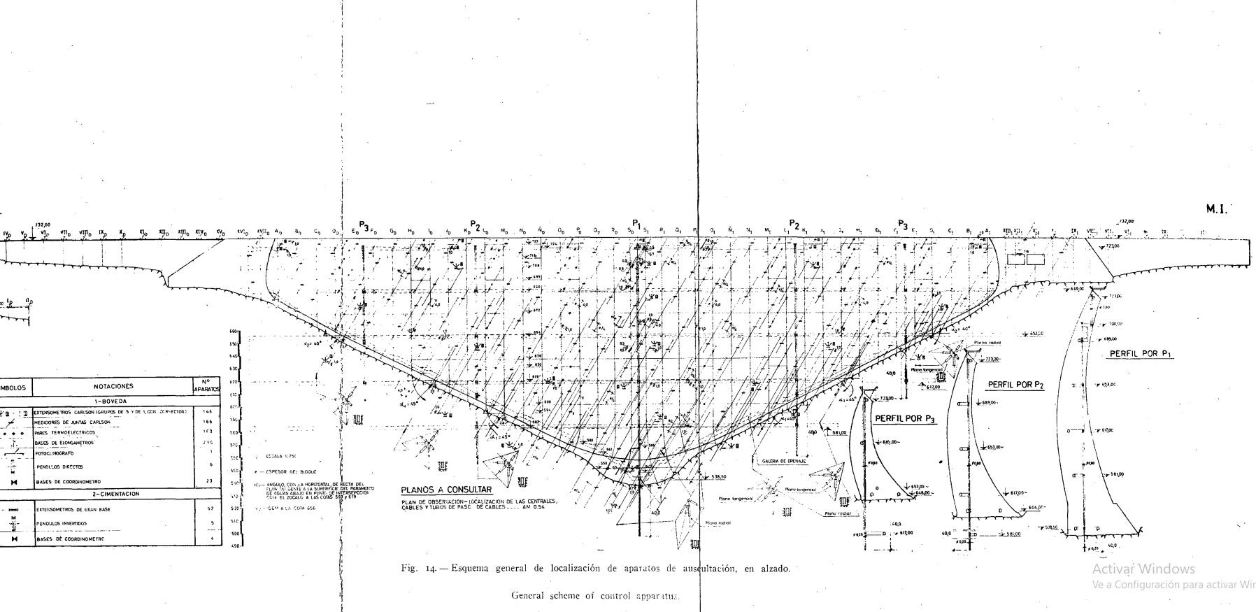 Presa de Almendra. Plano Revista de Obra Pública 1967.