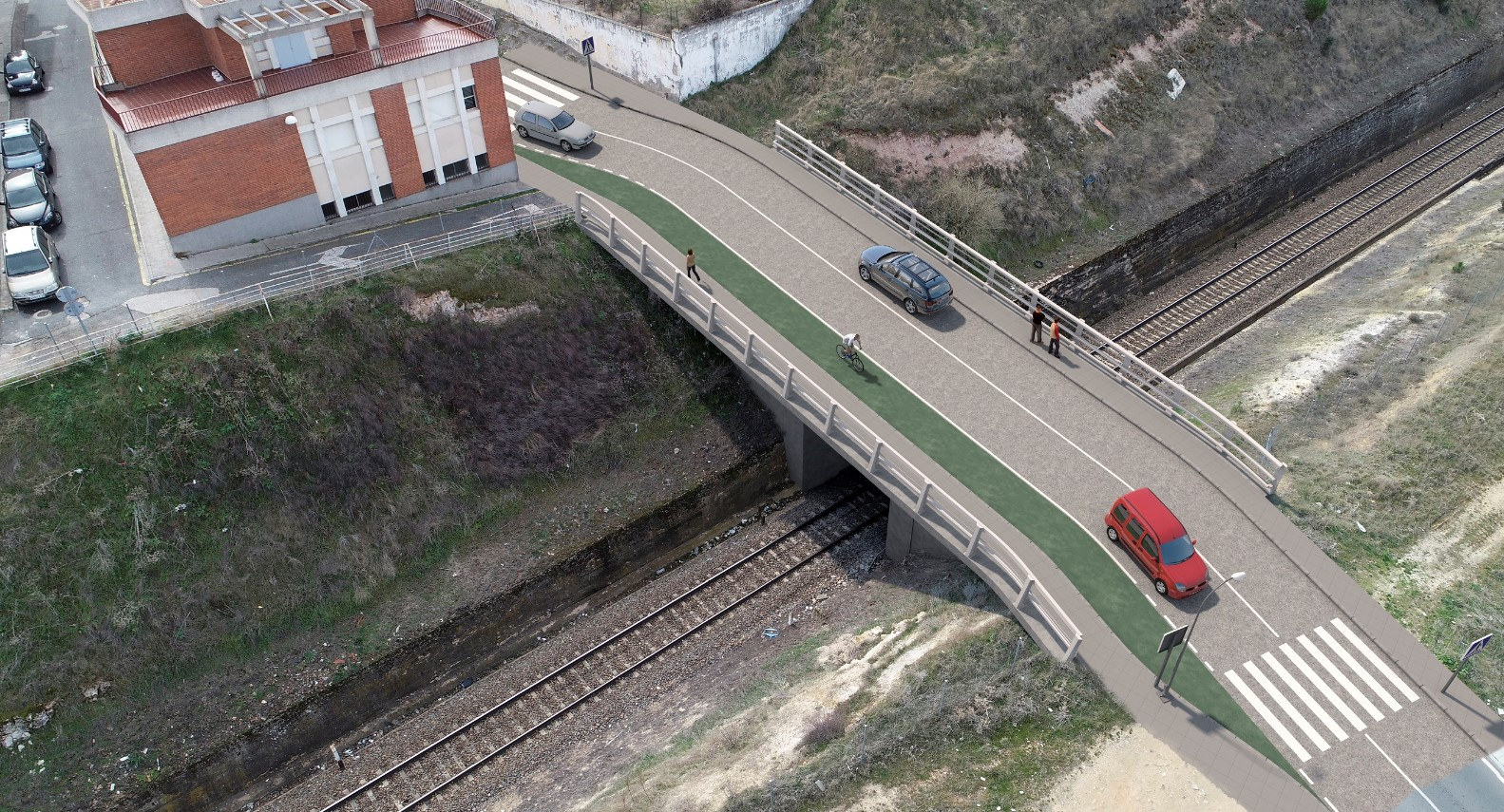 puente vias tren avena chamberi