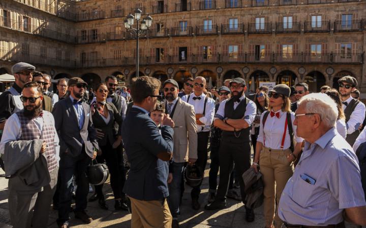 Distinguished Gentlemen's Ride, la concentración de motos más glamurosa y solidaria llegó a Salamanca.