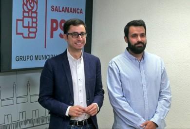 Jose Luis Mateos y Álvaro Antolín, concejales socialistas de Salamanca.