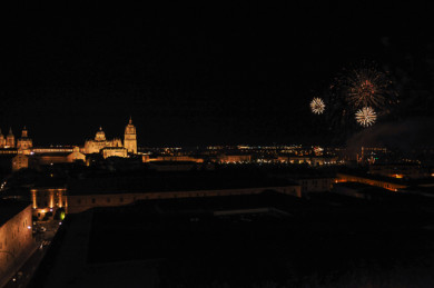 Fuegos artificiales, en Salamanca.