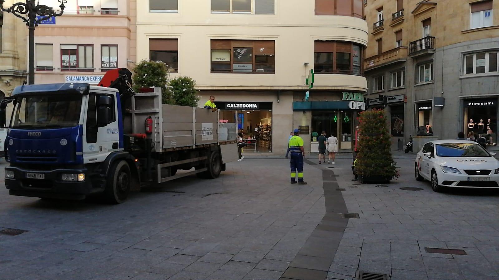 Jardineras de la calle Toro, Salamanca.