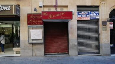 Romero Joyeros estaba ubicado en la calle Zamora.